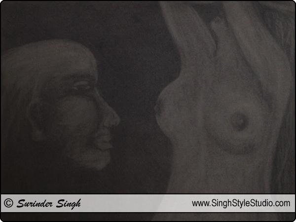 Figurative Art by Fine Artist Surinder Singh, Delhi, India