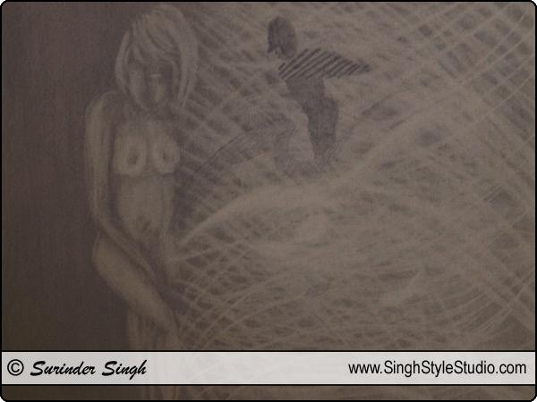 Modern Art by Fine Artist Surinder Singh, Delhi, India