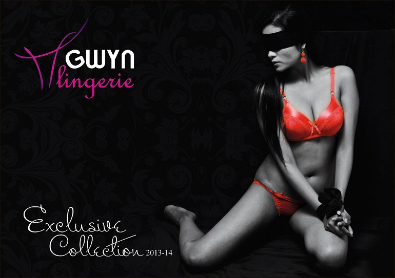 GWYN Lingerie Advertising Bondage Conceptual Fashion Catalogue Shoot Partial Color Black and White Photography Delhi India