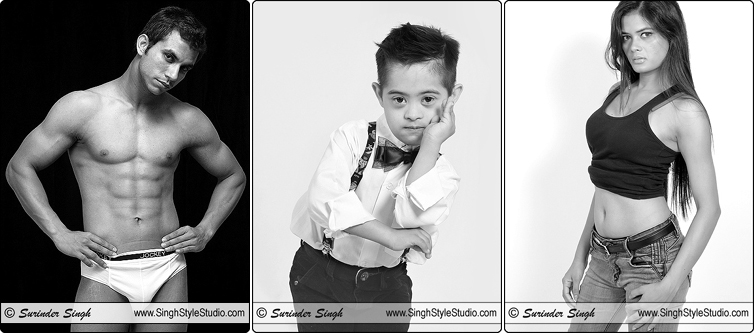 Kids Male Female Fashion Model Portfolios Black and White Photography Delhi India