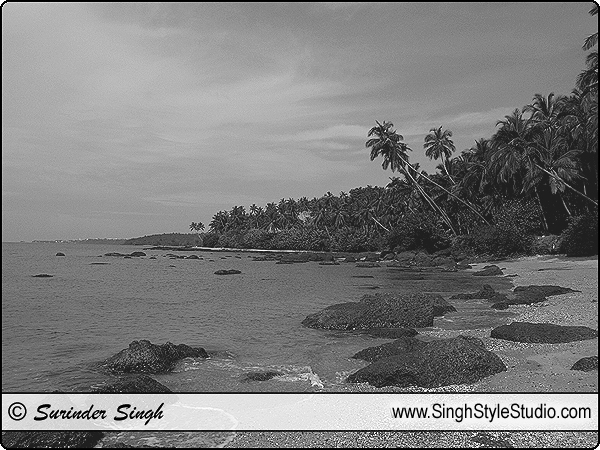 Travel Landscape Seascape Cloudscape Nature Black and White Photography India