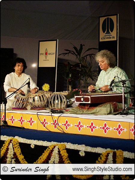 Events Photographer in Delhi India : Pt. Shiv Kumar Sharma on Santoor : Ud. Zakir Hussain on Tabla