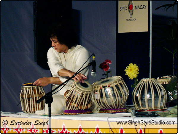 Ustad Zakir Hussain on Tabla SPIC Macay Event Loction Photography New Delhi, India.