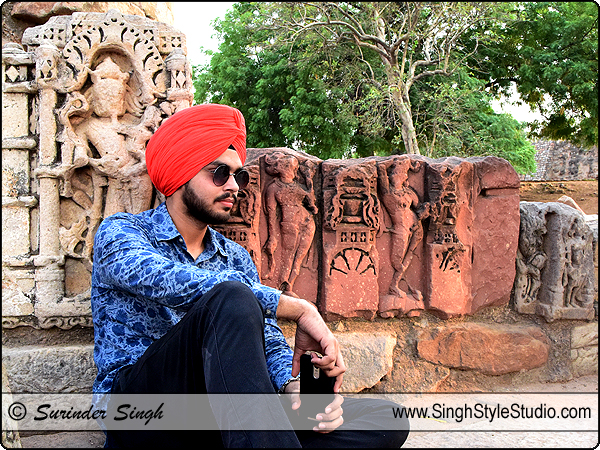 Sikh Male Model Modeling Portfolio Photoshoot in Delhi India