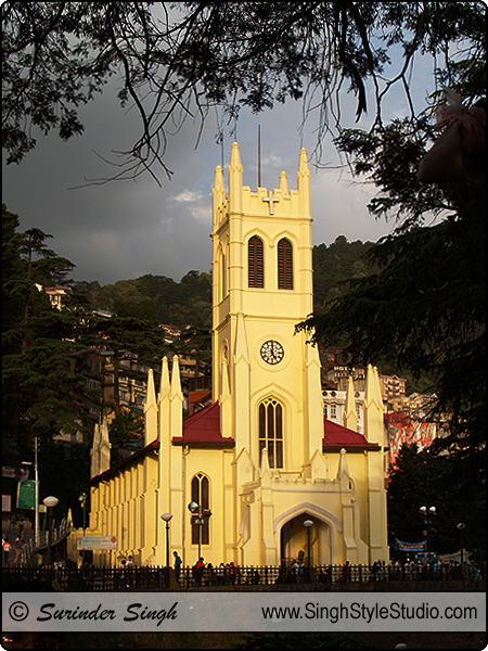 Christianity Religious Photography, Christ Church, Mall Road, Shimla, Himachal Pradesh, India.