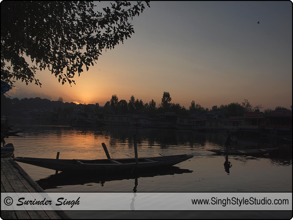 Silhouette Photography Dal Lake Srinagar Jammu and Kashmir India