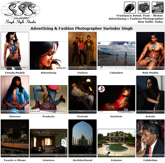 Singh Style Studio ~ Advertising & Fashion Photography in New Delhi, India.