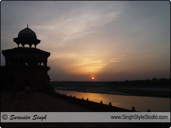 sunset in agra, sunset photos